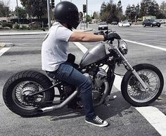 Honda Shadow VT600 bobber with small sportster tank and fenders removed