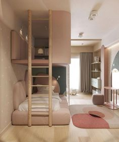 Red Accent Home Interior Shaped With Unique Decor & Accessories Teen Room Decor Ideas Accent Accessories Decor home Interior Red Shaped Unique Kids Bedroom Designs, Bedroom Decor For Teen Girls, Room Design Bedroom, Room Ideas Bedroom, Kids Room For Girls, Unique Teen Bedrooms, Modern Teen Room, Modern Kids Bedroom, Bedroom Interiors