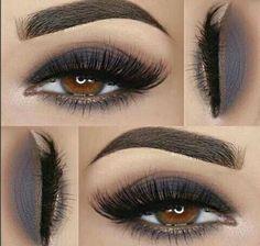 Eyeshadow, make up, smokey, grey, neutral Gorgeous Makeup, Love Makeup, Makeup Inspo, Makeup Inspiration, Makeup Pics, Skin Makeup, Eyeshadow Makeup, Eyeshadows, Makeup Primer