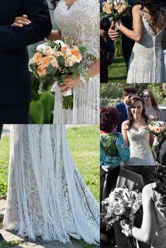 L'abito Boho Chic è di tendenza, ma non va bene per tutte. La Sposa in foto si chiama Elena e il suo matrimonio è stato organizzato con quel tema, il rito civile è stato infatti celebrato all'aperto in un meraviglioso giardino di una location.