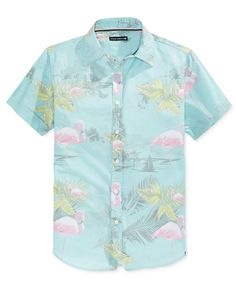 eb546c7150 Ocean Current Men s Sea Sublimated Short Sleeve Shirt Casual Button Down  Shirts