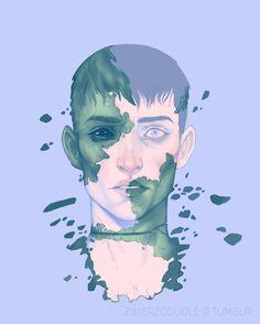 Outsider palette prompt, Agata Jędrychowska on ArtStation at https://www.artstation.com/artwork/3zgGm
