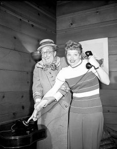 Lucille Ball and Ed Wynn Hollywood Heroines, Hollywood Actor, Classic Hollywood, Old Hollywood, Hollywood Stars, Ed Wynn, I Love Lucy Episodes, Queens Of Comedy, Lucille Ball Desi Arnaz