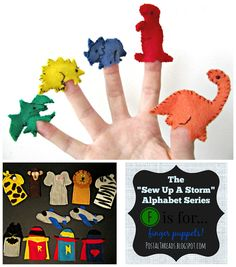 F is for...felt finger puppets!