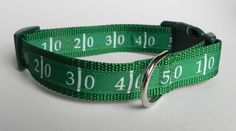 Football Field Dog Collar by RogueCollars on Etsy