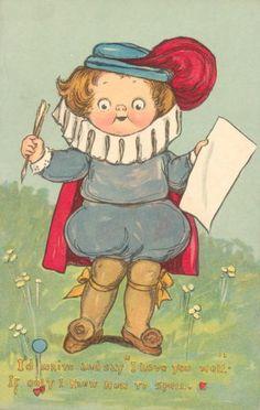 Grace Wiederseim Drayton Valentine Little Squire with Spelling Problem   eBay