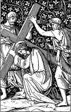 Znalezione obrazy dla zapytania stations of the cross station 3 Christian Images, Christian Art, Religious Images, Religious Art, Bible Tattoos, Woodcut Art, Bible Illustrations, Christ The King, Cross Art