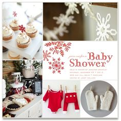Winter Baby Shower Inspiration Inspiration Board, curated by Jennifer at Minted