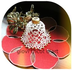 Didn't like the last bell pattern I used - we'll see how this one works up Needle Tatting, Tatting Lace, Lace Patterns, Crochet Patterns, Christmas Bells, Christmas Ornaments, Shuttle Tatting Patterns, Tatting Jewelry, Lace Making