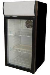 Expositor refrigerado con capacidad de 80 litros, incluye cuatro estántes metálicos. http://www.exportcave.com/expositor-refrigerado-cv-44