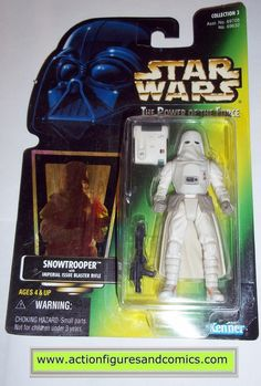 star wars action figures SNOWTROOPER hoth stormtrooper power of the force 1997 hasbro toys moc mip mib