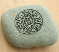 "Celtic Wedding Stone. You can carve and engrave stones such as these using diamond and carbide burrs. Eternal Tools has a wide range on offer with varying shanks from 1.6mm, 2.35mm 3/32"", 1/4"", 3mm and 6mm. Put the burs into a rotary tool or grinder."