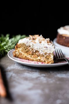 Coconut Carrot Cake Cheesecake | Half Baked Harvest. This carrot cake has a cheesecake swirl and is topped with coconut cream!