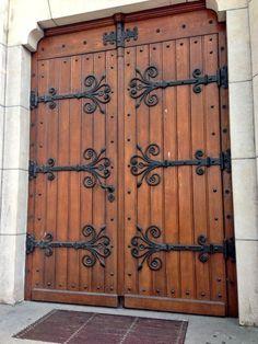 """My favorite door in Geneva"" Entrance Gates, Entry Doors, Gate Design, House Design, Medieval Door, Window Detail, Blacksmith Projects, Cool Doors, Mountain Homes"