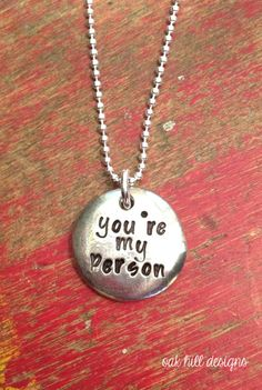 you're my person stamped necklace-you are my by OakHillDesigns