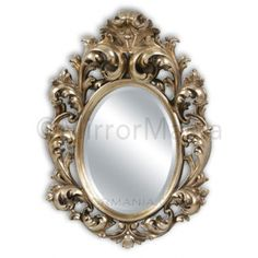 The Beatrix Gold Ornate Framed Wall Mirror from Mirror Mania -