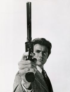 """Smith & Wesson M29 and Clint Eastwood as """"Dirty"""" Harry Callahan in Magnum Force."""