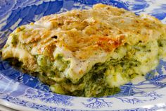 Lasagna with Pistachio Pesto and Prosciutto