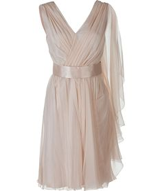 Alberta Ferretti Powder Chiffon Dress