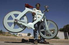 (Reuters) - A bicycle made almost entirely of cardboard has the potential to change transportation habits from the world's most congested cities to the poorest reaches of Africa, its Israeli inventor says.