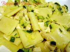 Traditional Italian Paccheri with Chicken and Zucchini (Paccheri con Pollo e Zucchine) | Enjoy this authentic Italian recipe from our kitchen to yours. Buon Appetito!