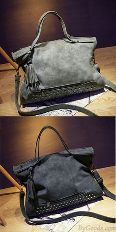 e135e71fabc7 Vintage Leather Rivets Shoulderbag Messenger Bag Handbag Motorcycle Bag  only  38.99 -ByGoods.com