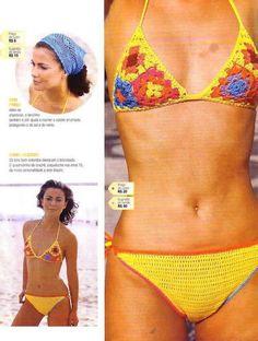 Paciuga, Brega e Imbelina: Come fare i costumi all'uncinetto? Schemi free: tanti modelli di bikini all'uncinetto
