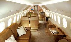 $499 Everyone's Private Jet. Book Now! www.flightpooling.com Falcon 7X - Interior #emptyleg #business #airplane #cabin