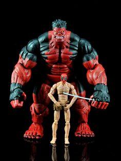 Red Hulk and Nude Deadpool Custom Marvel Legends Figures Red Hulk Marvel, Marvel Dc, Deadpool Photos, Marvel Legends Figures, Dolphin Tale, Marvel News, Deadpool Wallpaper, Custom Action Figures, Incredible Hulk