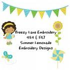 Lemonade Stand Kid Machine Embroidery Design Set 4X4 & 5X7 on CD