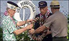 pearl harbor survivors on both sides meet | US Navy sailor Everett Hyland (left) and Japanese Zero Pilot Jiro ...