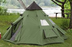 Camping Tent Teepee Survival 6 Person Heavy Duty Waterproof Outdoor Hiking Trail #Guidegear