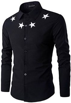 Star Pattern Solid Color Long Sleeves Shirt For Men African Shirts For Men, African Clothing For Men, Formal Shirts For Men, Casual Shirts, Only Shirt, Indian Men Fashion, Casual Wear For Men, Well Dressed Men, Western Shirts