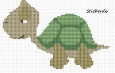 Cross-stitch Turtle ... no color chart available, just use pattern chart as your color guide.. or choose your own colors... Stickeules Freebies
