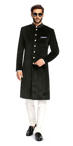 Make a style statement with our wide range of customized ethnic wear for men. View finely tailored custom made sherwani, bandhgala jacket and more at Herringbone & Sui.