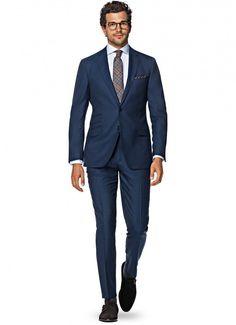ネイビースーツ,チェック柄ネクタイ,navy blue suit