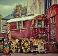 A fun image sharing community. Explore amazing art and photography and share your own visual inspiration! Gypsy Caravan, Gypsy Wagon, Notting Hill Carnival, Caravans, Tarot Cards, My Dream, Big Ben, Amazing Art, Mystery