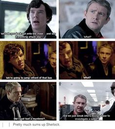 In the original stories, John was a flat character to emphasize by contrast Sherlock's extraordinary qualities. In this BBC incarnation, John is just a constantly confused but compassionate person, to emphasize by contrast that Sherlock is freaking nuts. I kinda love it.