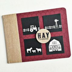 Hay There Card by Heather Nichols for Papertrey Ink (December 2015)