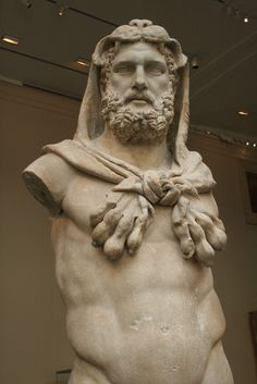 Marble Statue of a bearded Hercules, Roman, Flavian period, A.D. 68-98, Metropolitan Museum of Arts, New York, 2009