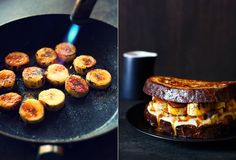 Brioche French Toast with Bananas, Crème Patissiere and Salted Caramel