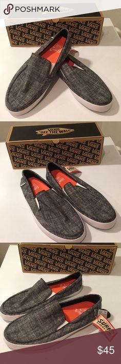 New Vans Surf Siders Bali black slip on Sz 11 ❤️ New Vans Surf siders slip on shoes  Size 11  Color black   Great slip on shoes for easy going. Has linen canvas upper and has rubber outsole and foam insoles.  A must have and can be used very casually !  🏄🏻🏂👍  Great price Vans Shoes Loafers & Slip-Ons