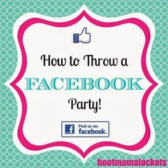 When setting up your Facebook party, go to the Events icon on the left sidebar of your Facebook account.  Create a new event and invite all ...