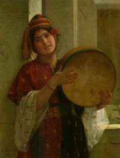 """""""Young Turkish Girl"""" by Christen Brun (1869)"""