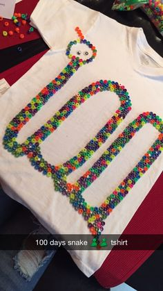 100 days tshirt. More than 100 beads though.
