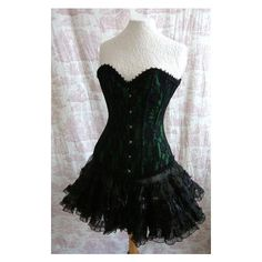"Long Length 22"" Waist Corset ABSINTHIA NOIR Corset Steampunk Gothic... ❤ liked on Polyvore"