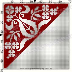 Gallery.ru / Фото #53 - Le Filet Ancien au Point de Reprise VI - gabbach Cross Stitch Freebies, Cross Stitch Bookmarks, Cross Stitch Borders, Cross Stitching, Cross Stitch Embroidery, Cross Stitch Patterns, Crochet Doily Patterns, Embroidery Patterns Free, Crochet Diagram