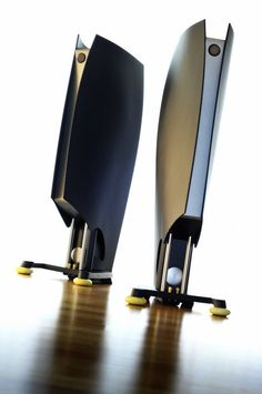 """Custom made High End HiFi loudspeaker """"SAIL"""" based on Udo Wohlgemuth´s (ADW) famous concept of """"DUETTA TOP"""" with """"ETON"""" speakers / Designed by A. Fiol - Germany"""