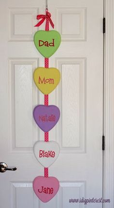 I Dig Pinterest: Conversation Heart Hanging #yearofcelebrations