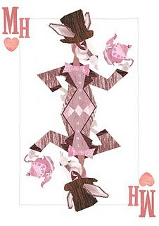 Alice in Wonderland playing cards - a similar style of what I would like to do